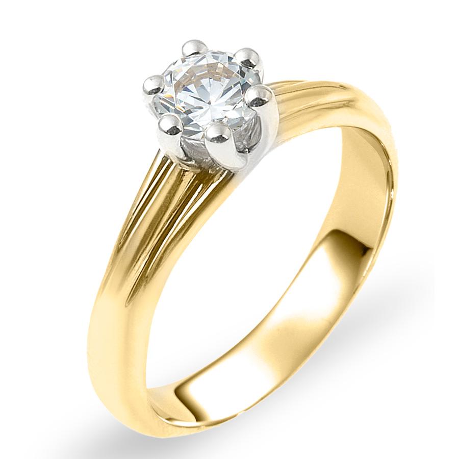 טבעת אירוסין דוגמת כיווצים