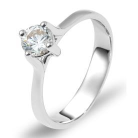 טבעת אירוסין סוליטייר יהלום עדין