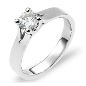 טבעת אירוסין משולשים בצד