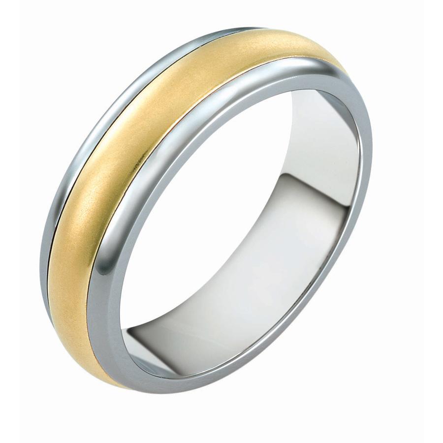טבעת נישואין זהב לבן בקצוות