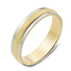 טבעת נישואין זהב צהוב מרוקע