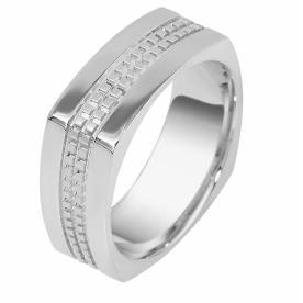 טבעת נישואין הטבעת ריבועים