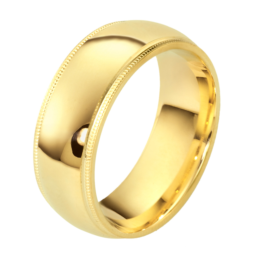 טבעת נישואין זהב צהוב רחבה