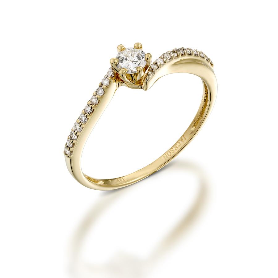 טבעת אירוסין צרה אסימטרית
