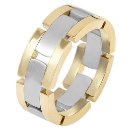 טבעת נישואין מלבני זהב
