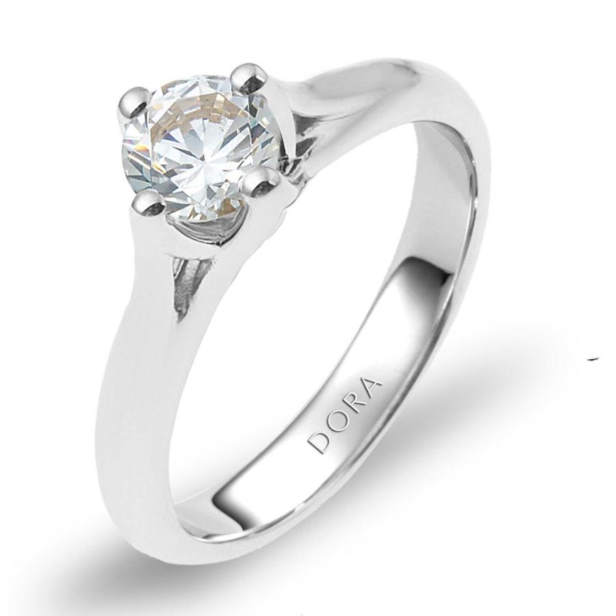 טבעת אירוסין גשר לצד היהלום