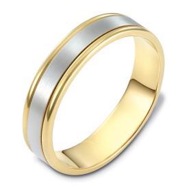 טבעת נישואין זהב בשני צבעים
