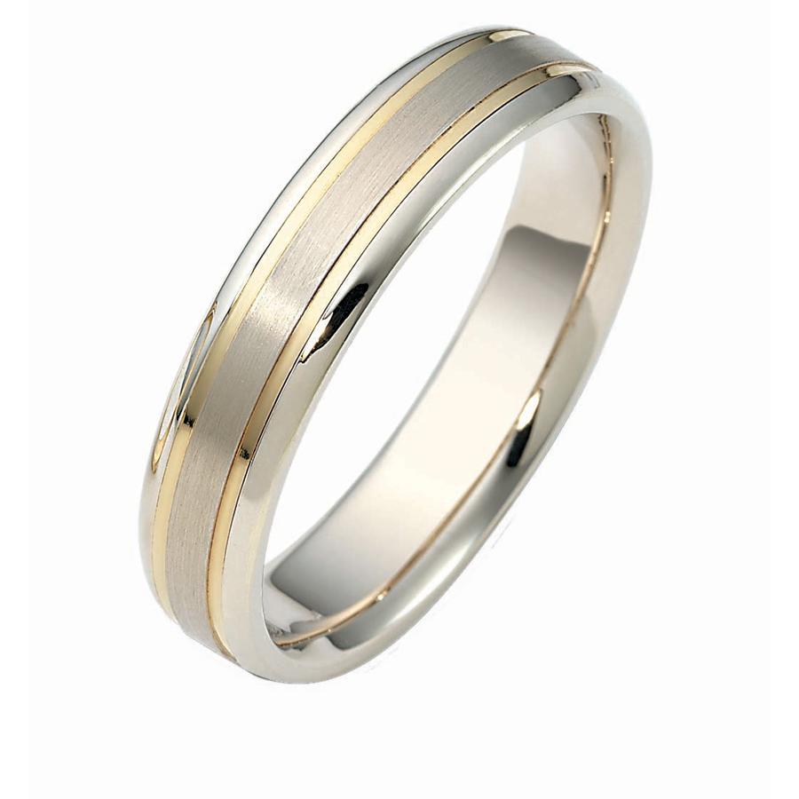 טבעת נישואין שני פסי זהב צהוב