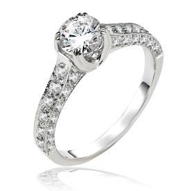 טבעת אירוסין משובת יהלומים