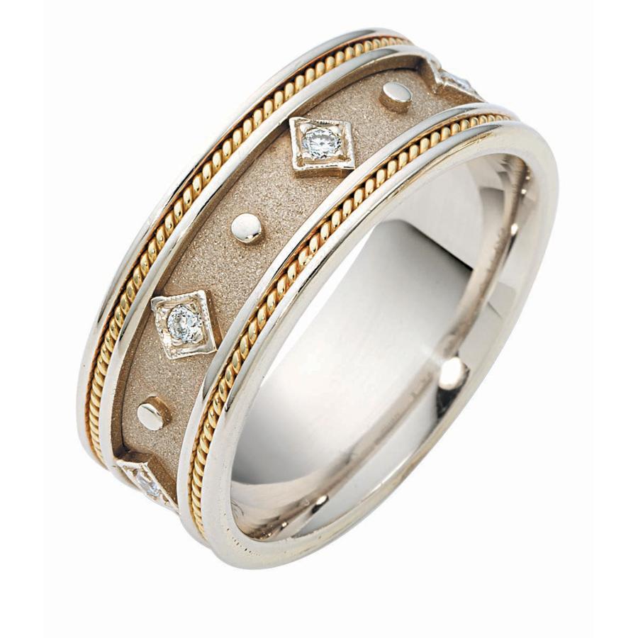 טבעת נישואין יהלומים ועיגולים