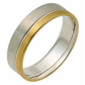 טבעת נישואין פס צר זהב צהוב