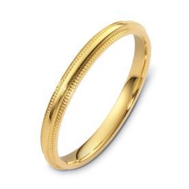 טבעת נישואין צרה עם חריטות