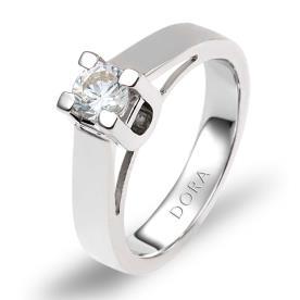 טבעת אירוסין סוליטייר רחבה