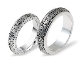 טבעות לזוג הטבעת זהב לבן