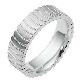טבעת נישואין זהב לבן קשתות