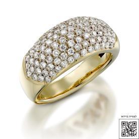 טבעת אירוסין אטרניטי זהב הצוב