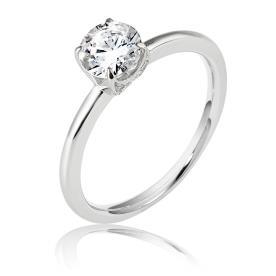 טבעת אירוסין סוליטייר עגולה