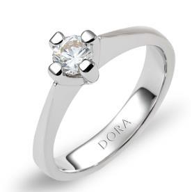 טבעת אירוסין צרה יהלום אחד