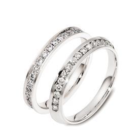 טבעuת נישואין עם יהלומים