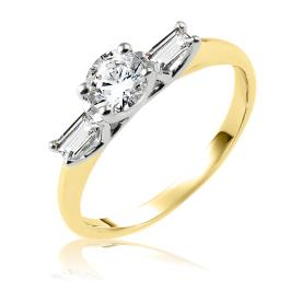 טבעת אירוסין זהב צהוב עם כנפיים
