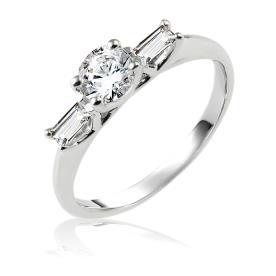 טבעת אירוסין יהלום עם כנפיים