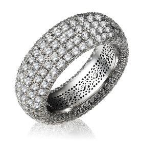 טבעת אירוסין ארבע שורות אטרניטי