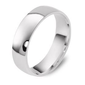 טבעת נישואין זהב לבן קלאסית