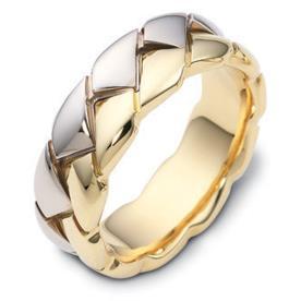 טבעת נישואין צמה בשני צבעים