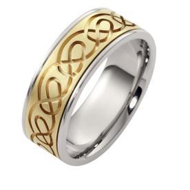 טבעת נישואין וינטאג' עם חריטה
