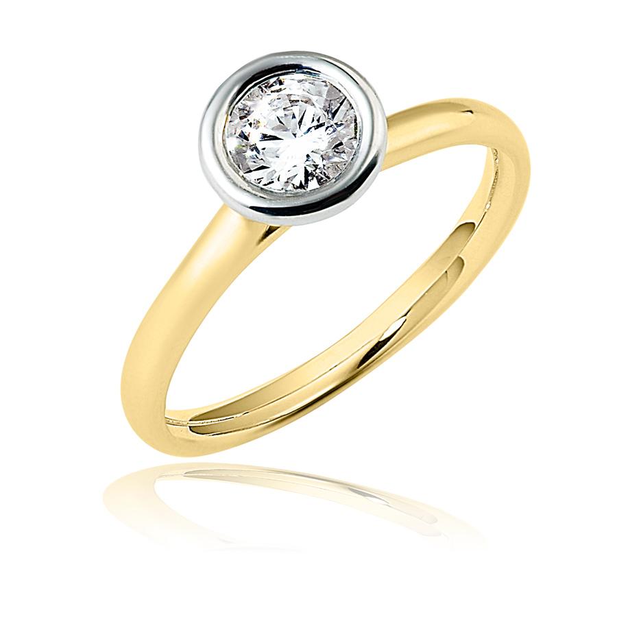 טבעת אירוסין עיגול זהב לבן