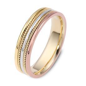 טבעת נישואין עדינה עם זהב אדום
