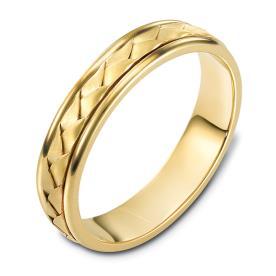 טבעת נישואין זהב לבן צמה