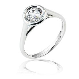 טבעת אירוסין יהלום עם הגבהה