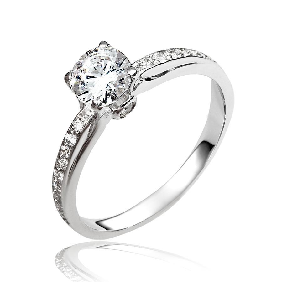 טבעת אירוסין יהלומים בצדדים