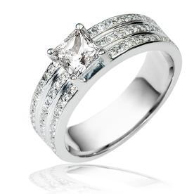 טבעת אירוסין רחבה אטרניטי