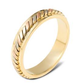 טבעת נישואין דמוית צמה