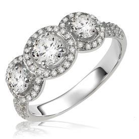 טבעת אירוסין שלושה עיגולים