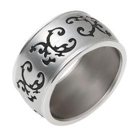 טבעת נישואין רחבה עיטוי עלים