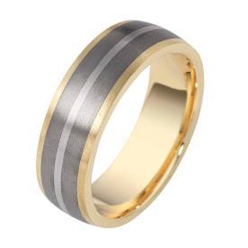 טבעת נישואין פס בהיר באמצע
