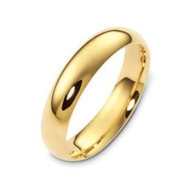 טבעת נישואין קלאסית זהב צהוב