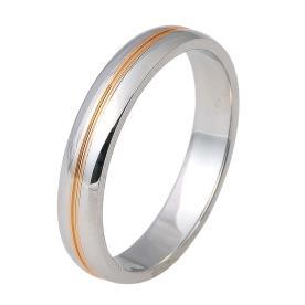 טבעת נישואין פס זהב דק