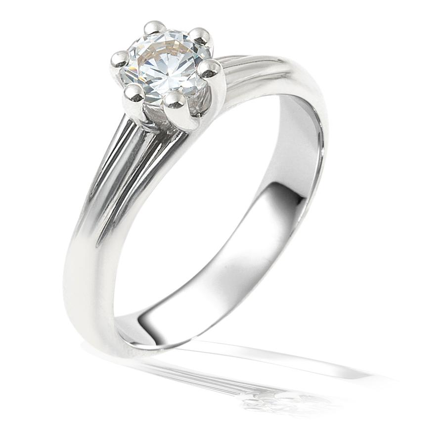 טבעת אירוסין: תכשיט לאישה, סוליטייר, תכשיט עם יהלומים, תכשיט מזהב לבן, תכשיט בסגנון צר, תכשיט בעיצוב עדין, יהלומים - ג'קסון עיצובים