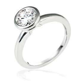 טבעת אירוסין סוליטייר יהלום עגול