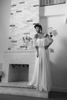 שמלת כלה קלילה בסגנון וינטג'