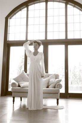 שמלת כלה חורפית בסגנון חופשי