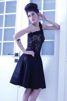 שמלת ערב מיני אסימטרית