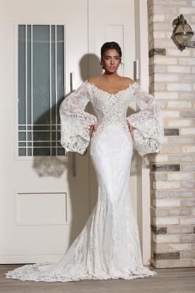 שמלת כלה בעיצובה של מיכל אזולאי