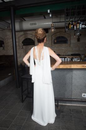 שמלת כלה ייחודית בסגנון יווני