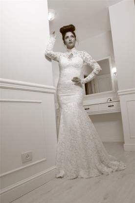 שמלת כלה חורפית בסגנון וינטג'