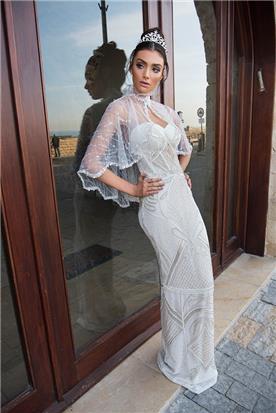 שמלת כלה עם עליונית שקופה